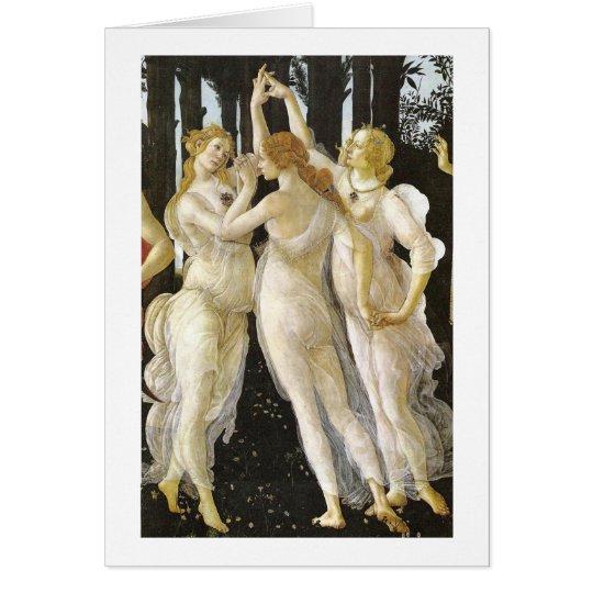 Botticelli drei Umgangsform-Renaissance-schöne Mitteilungskarte