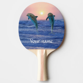 Bottlenose-Delphin am Sonnenaufgang Tischtennis Schläger
