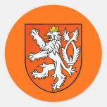 Bouclier néerlandais de lion d'emblème néerlandais sticker rond