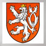 Bouclier néerlandais de lion d'emblème néerlandais affiche