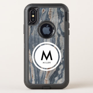 Boudinaged Kalkstein-Felsen-Monogramm OtterBox Defender iPhone X Hülle
