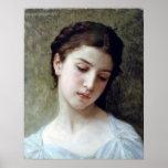 Bouguereau - Etude de Tete De Jeune Fille