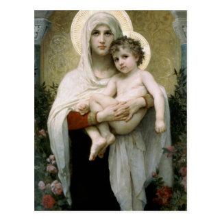 Bouguereaus der Madonna der Rosen (1903) Postkarte