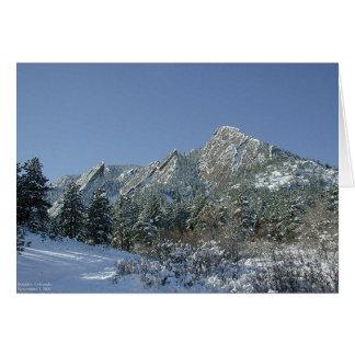 Boulder Flatirons im Schnee Karte