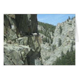 Boulder-Schlucht-Colorado-GebirgsFoto-Karte Karte