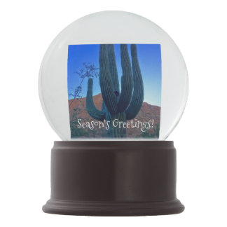 Boule À Neige Globe de neige de cactus de Noël de l'Arizona