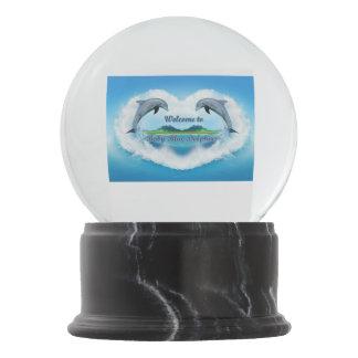 Boule À Neige Globe de neige de dauphin de bleus layette