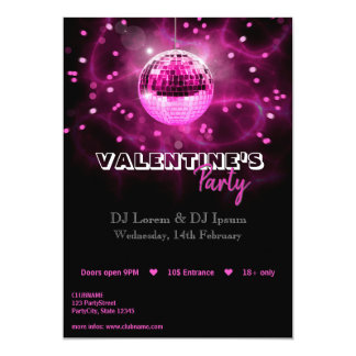 Boule de disco de Saint-Valentin - invitation de