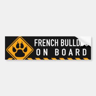 Bouledogue français à bord autocollant pour voiture