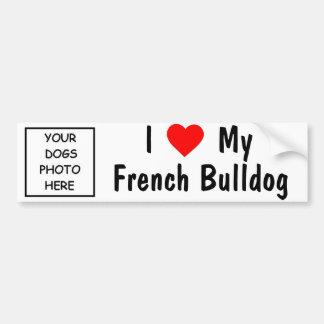 Bouledogue français autocollant de voiture