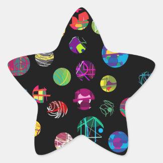 Boules espiègles sticker étoile