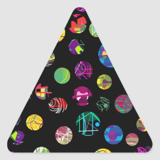 Boules espiègles sticker triangulaire