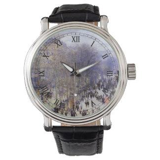 Boulevard-DES Capucines durch Claude Monet, schöne Uhr