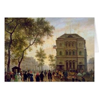 Boulevard St Martin und das Theaterde Grußkarte