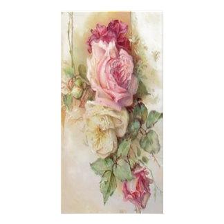 bouquet de victorian de carte photo de fleurs photocarte customisée