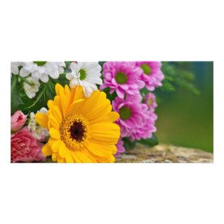 Bouquet des fleurs photocartes