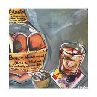 Bourbon-Bar-Kunst Leinwanddruck