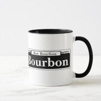 Bourbon-St., New- OrleansStraßenschild Tasse