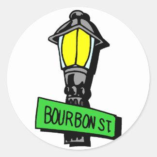 Bourbon-Straßen-Karneval Runder Aufkleber
