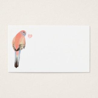 Bourke Parakeet Visitenkarte