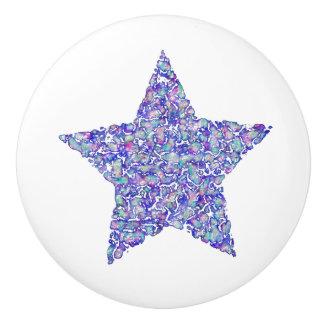 Bouton cireux d'étoile bleue