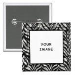 Bouton de cadre de photo de zèbre badges avec agrafe