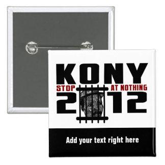 Bouton de Customizeable KONY 2012 Badge Carré 5 Cm