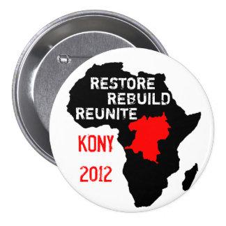 Bouton de l'Afrique centrale de restauration Badge Rond 7,6 Cm
