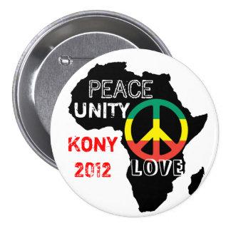 Bouton de paix de l'Afrique Badge Rond 7,6 Cm