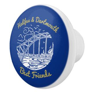 Bouton De Porte En Céramique Bleu de traction de tiroir d'amis de Halifax