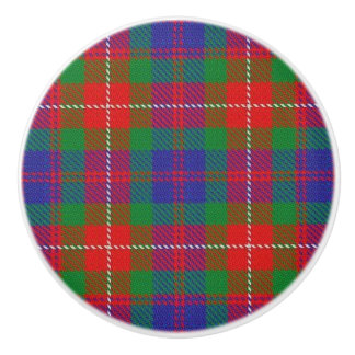 Bouton De Porte En Céramique Clan écossais Fraser de splendeur de tartan de