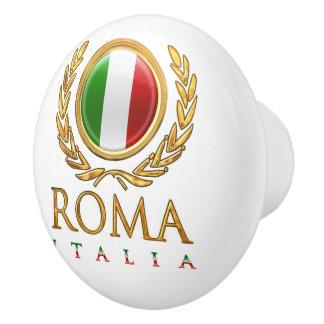 Bouton De Porte En Céramique Le drapeau italien