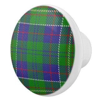 Bouton De Porte En Céramique Plaid de tartan écossais de chasseur de clan de