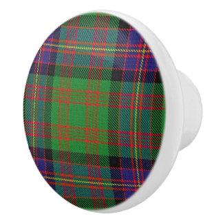 Bouton De Porte En Céramique Plaid de tartan écossais de Cochrane de clan de