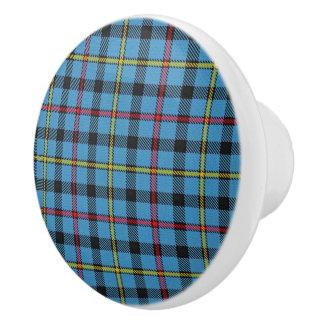 Bouton De Porte En Céramique Plaid de tartan écossais de MacCrimmon de clan de