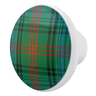 Bouton De Porte En Céramique Plaid de tartan écossais de Ross de clan de