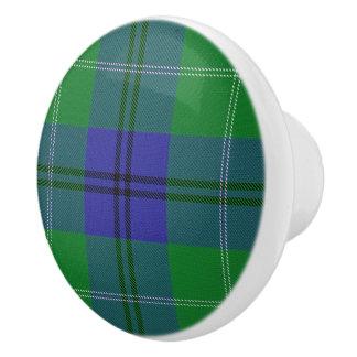 Bouton De Porte En Céramique Plaid de tartan écossais d'Oliphant de clan de