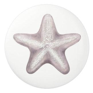 Bouton en céramique de jolies étoiles de mer