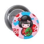 Bouton japonais de poupée de Kawaii Badges Avec Agrafe
