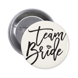 Bouton nuptiale de mariage de partie de diamant de badge rond 5 cm