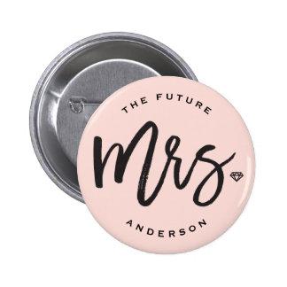Bouton nuptiale de partie de Mme Brush Diamond Badge Rond 5 Cm