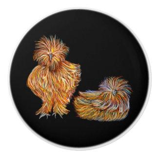 Boutons de fantaisie de poulet colorés par