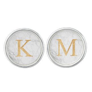 Boutons De Manchette A-Z d'or de Faux de monogramme de PixDezines
