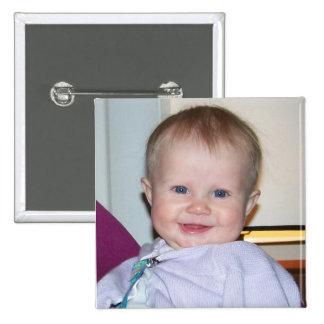 Boutons personnalisés par carré badge avec épingle