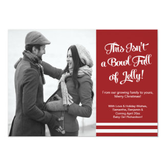 Bowl Jelly Pregnancy Photo Announcement Card 12,7 X 17,8 Cm Einladungskarte
