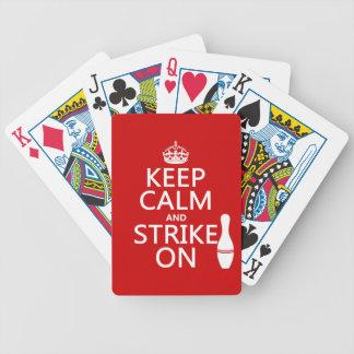 Bowling - behalten Sie Ruhe und schlagen Sie an Bicycle Spielkarten