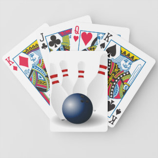 Bowling bowling-155946 Skittles ninepins Tenpins p Bicycle Spielkarten