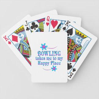 Bowling mein glücklicher Platz Bicycle Spielkarten