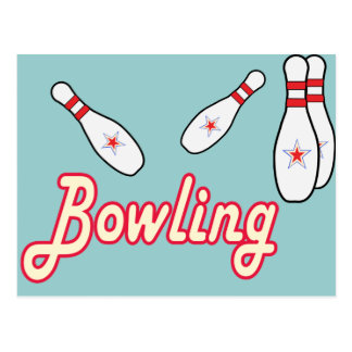 Bowling Retro Postkarte