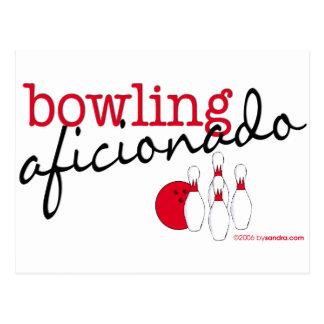 Bowlings-Anhänger Postkarte